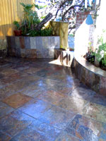 image of a slate patio