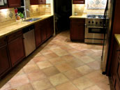 image of kitchen floor layout